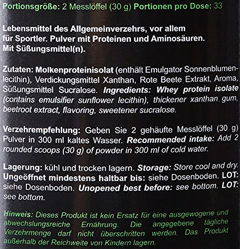 Zec+ Nutrition WHEY ISOLAT (Erdbeere, 1000g) - 6