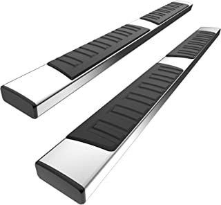 YITAMOTOR 6 inches Running Boards Compatible with 2007-2018 Silverado/GMC Sierra 1500 & 2500HD 3500HD Crew Cab, 2019 Silve...