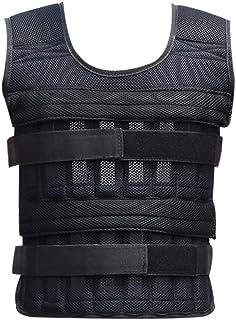 comprar comparacion Reuvv - Chaleco lastrado de 20 kg ajustable, chaleco de para ejercicios de levantar peso, entrenamiento de boxeo, gimnasio...