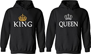 Couple Hoodies - King & Queen Matching His and Her Hoodies