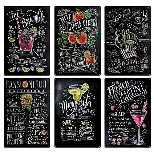 AMITD Kaffee Cocktail-Liebe Kuchen-Tee Blechschilder Wandtafel Benutzerdefinierte Metall Malerei Antike-Geschenk-Bar Pub Decor,4
