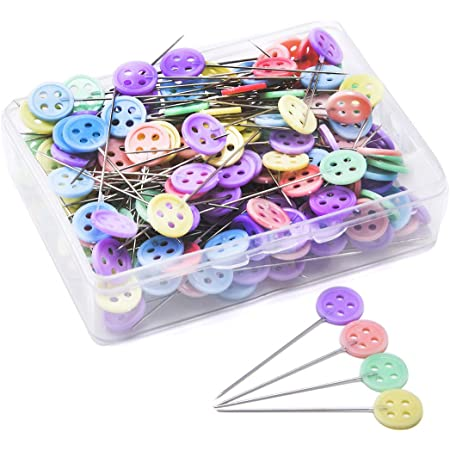 Gold Round Head Pins-300pcs Practical Boxed Portable Sewing Pins for Decorative Sewing Crafts