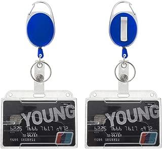 5 confezioni Misura unica Horizontal Gogo Porta badge orizzontale in plastica rigida resistente