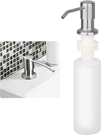 Linkstyle Kitchen Soap Dispenser Made Of Stainless Steel Built In 300ml Liquid Soap Detergent Dispenser Bottle 360 Rotation Nozzle Dispenser Pump For Bathroom And Dish Lotion Sink Dispenser Amazon Co Uk Home