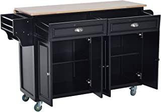 kitchen island with extendable top