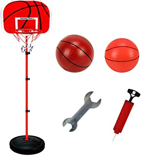 63-150CM Basketball Stands Height Adjustable Kids Basketball Goals Hoop Toy Set