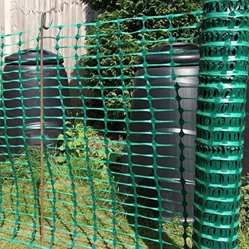 True Products B1001F aufgerollter Absperrzaun aus Kunststoff, 50 m, grün - 3