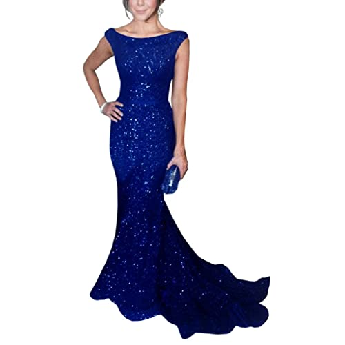 Royal Blue Sequins Dress