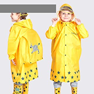 LJJOO Waterproof Raincoat Poncho, Hooded Raincoat with Oversized Hat, Reusable, Emergency Raincoat, Increased Bag Position, Outdoor Camping Trip, (Color : Yellow, Size : L)