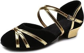 HIPPOSEUS Donna Ballroom Scarpe da ballo //sala da ballo scarpe//Scarpe da ballo latino standard di Cuoio,Modello-ITCMJ5138