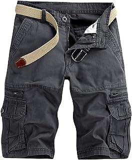 comprar comparacion GUOCU Pantalón Corto Deportivo Cargo Shorts Hombres Bermudas Sport Casual