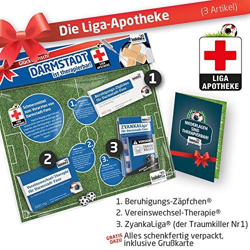 Geschenk-Set: Die Liga-Apotheke für Darmstadt 98-Fans | 3X süße Schmerzmittel für Darmstadt Fans | Die besten Fanartikel der Liga, Besser als Trikot, Home Away, Saison 18/19 Jersey