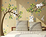 luckkyy Koala Ast & Baum Wallsticker für Kinderzimmer Schlafzimmer Wand Decor, multi, 80