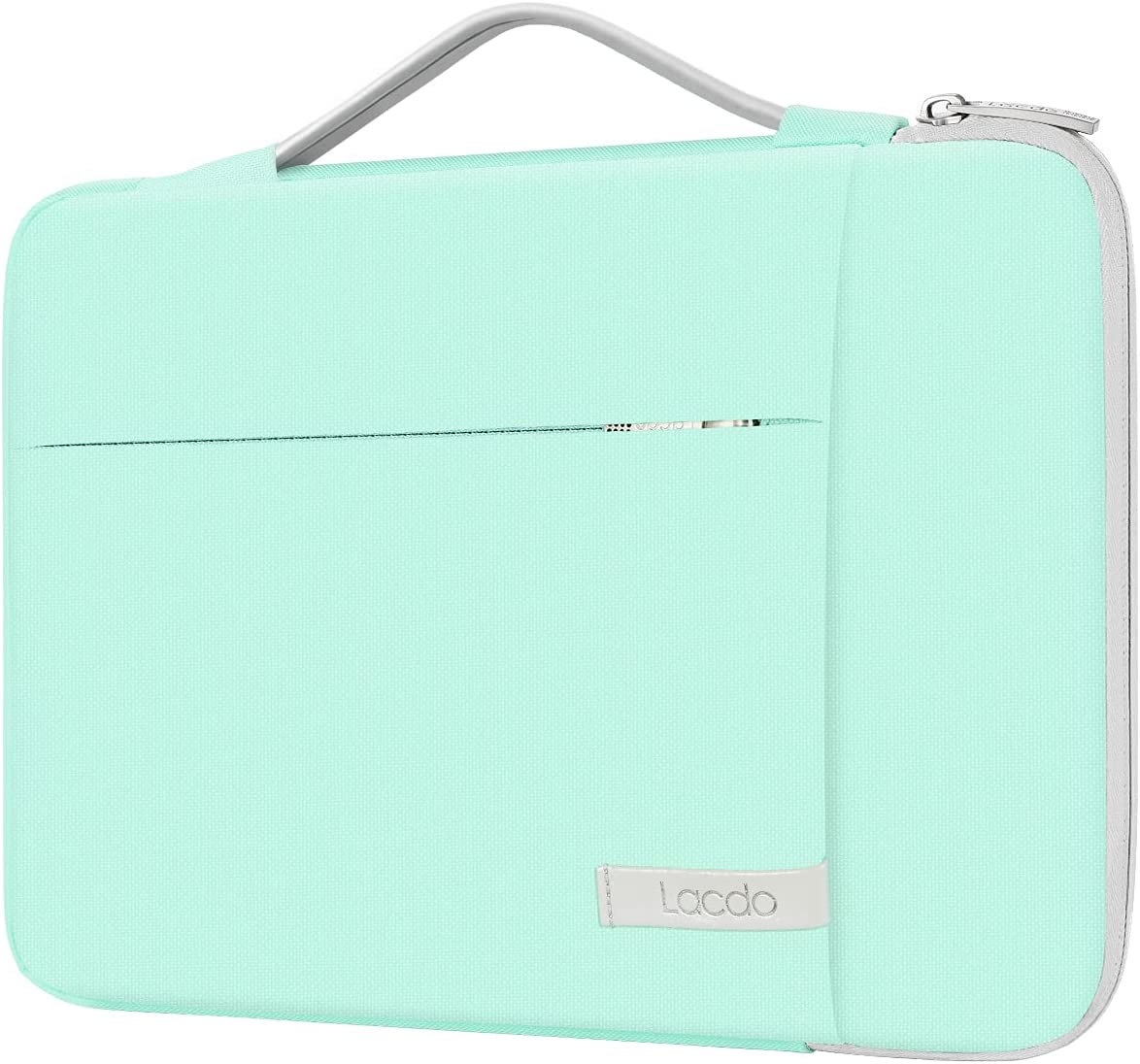 Lacdo 360° Protective 11 Inch Chromebook Case Handle Laptop Sleeve for 11.6 inch Samsung HP Stream / Acer Chromebook R 11 / ASUS C202 / MacBook Air 11.6 inch, Surface Pro X 7 6, C330 2-in-1 Bag, Green
