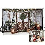 MEHOFOTO - Guirnalda de Luces de Pared de Madera rústica marrón con Purpurina para cenas de Navidad, cenas de Invierno, Fiestas de cumpleaños, Fiestas, etc.