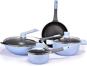 Cookware Set Soup Pot Frying Pan Wok Milk Pot Kitchen Cooking Pot Set Induction Cooker Non-Stick Pan Saucepan Casserole Ho...