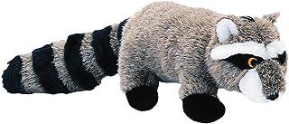 Pet Lou RAC-8 Medium Plush Dog Chew Toy, 8-Inch Raccoon