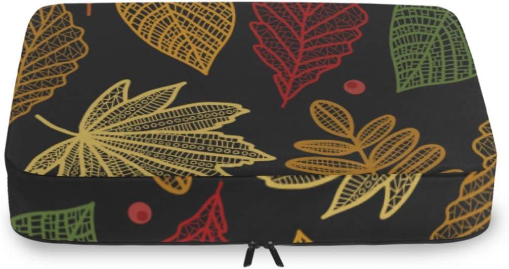 Luggage Packing Organizer Set 5% OFF Red Maple Retro Autumn Sale item Leaf Yellow