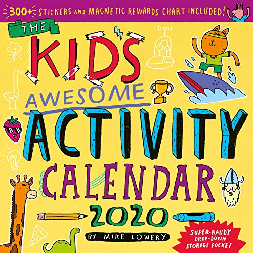Kid's Awesome Activity Wall Calendar 2020