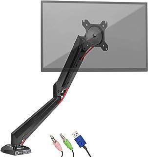 Duronic DMUSB5X1 Soporte para Pantalla de 15 a 27 Pulgadas con Muelle de Gas Entrada USB y Entrada para Auriculares y M...