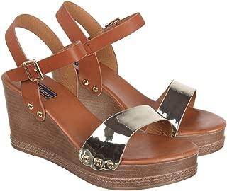 Flat n Heels Womens Gold Sandals FnH 0623-2-GD