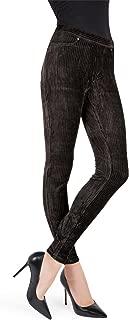 MeMoi Wide-Rib Stretch Corduroy Leggings | Women's Premium Leggings