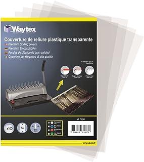 Couverture PVC 200mic translucide A4 216x303mm paquet de 100