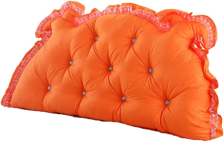 RFJJAL Bedside Cushion Double Back Cushion Sofa Back Korean Dragon Long Soft Pack Bed Pillow Cotton Waist (color   D, Size   120  70cm)
