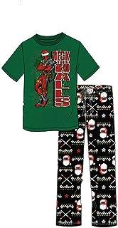 Marvel Deadpool Deck the Halls Pijama de dos piezas para hombre, 2XL