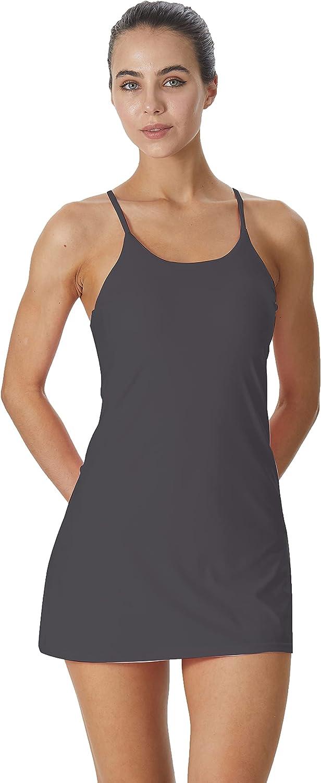 Women's Sleeveless Exercise Tennis Dress Sho with Bra Built-in Milwaukee Mall OFFicial