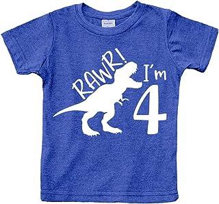 rawr im 4 Year Old boy Shirt Roar 4th Birthday Shirt boy Four Dinosaur Tshirt