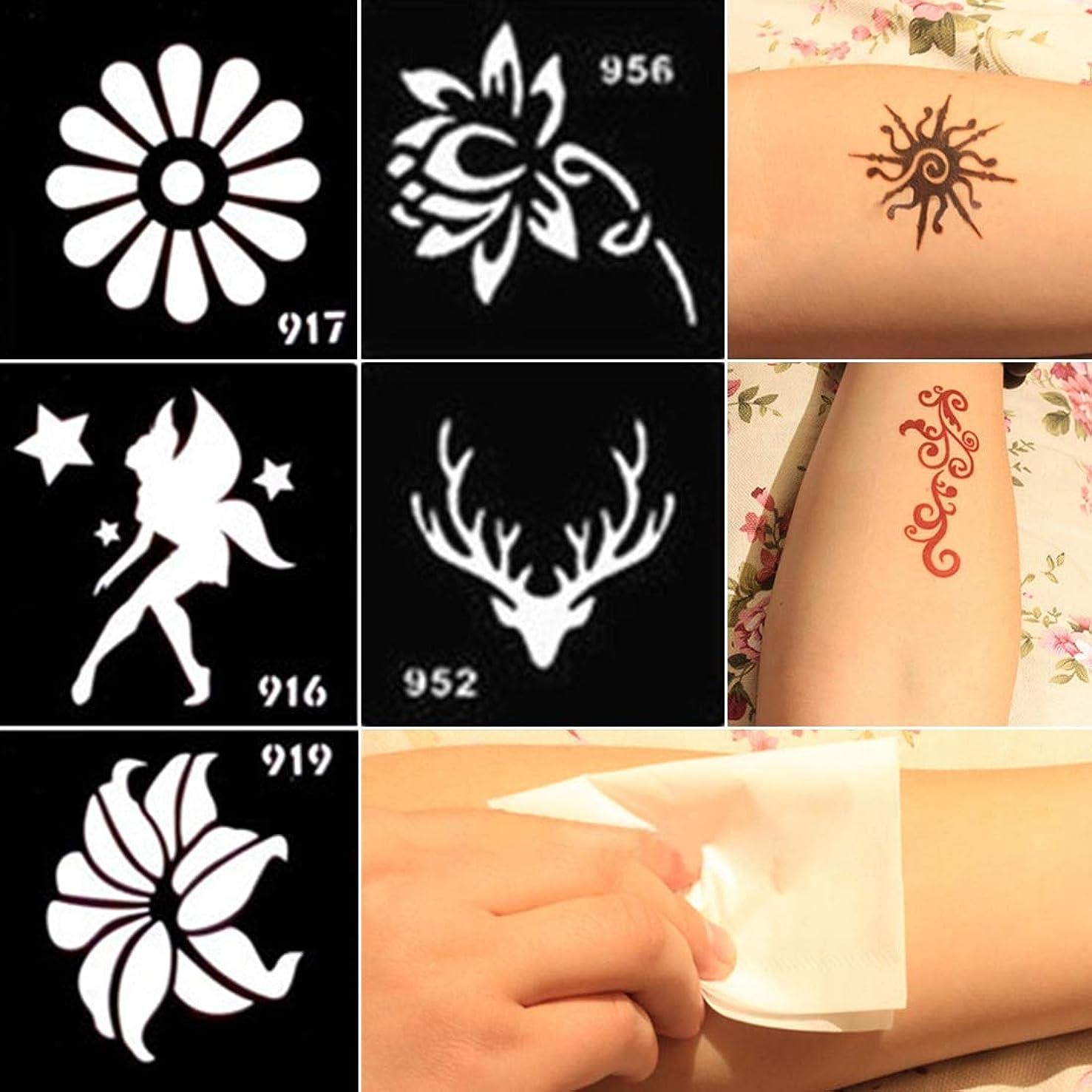 Henna Stencils Odorless Tattoo Cream Hand Paint Cream Special Template Small Henna Tattoo Mould DIY Airbrush Paint Mehndi Henna Indian Tattoo