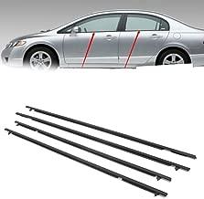 Newsmarts 4pcs Weatherstrip Windows Seal Door Belt Molding Weather-Strip for Honda Civic 2006-2011