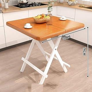 HX Portable Table Carrée Simple Table Maison Table Pliante Table Pliante Simple Petite Table Carrée Manger Table A+ (Coule...
