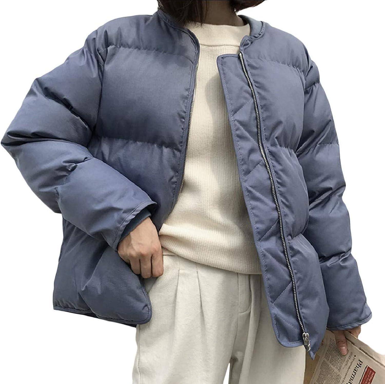 Buildhigh Women's Stand Collar Lightweight Fall Winter Cotton Padded Jacket