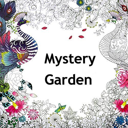 DishyKooker Handgemaltes Malbuch Secret Garden Malbuch Taschenbuch Mysterious Garden Malbuch für Erwachsene Mysterious Garden