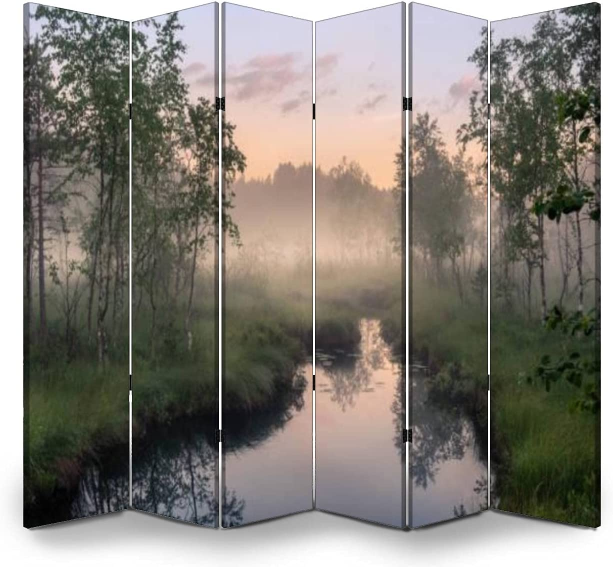 6 Panels Room Divider Screen Partition View Kansas City Mall Sale price with River Idyllic T