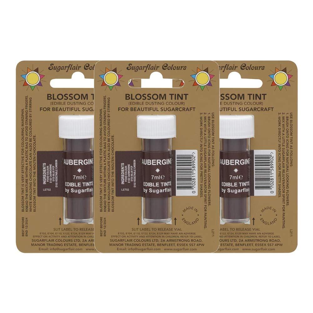 3 Selling rankings x Sugarflair Aubergine Edible Award-winning store Blossom Colour Food Tints