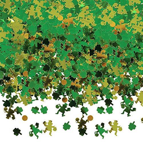 amscan International Confetti Motif trèfles Vert