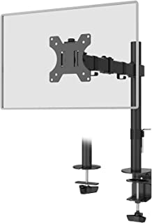 "WALI Single LCD Monitor Fully Adjustable Desk Mount Stand Fits One Screen up to 32"", 19.8 lbs. Weight Capacity per Arm (M0..."