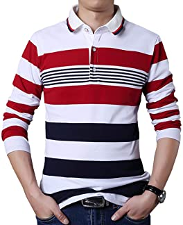 Mens Polo Shirt Casual Slim Fit Polo T Shirts Golf Shirt