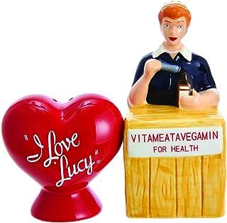 Kurt S. Adler Kurt Adler I Love Lucy Vitameatavegamin Handpainted Ceramic Salt & Pepper 2-Piece Set Salt and Pepper Shaker