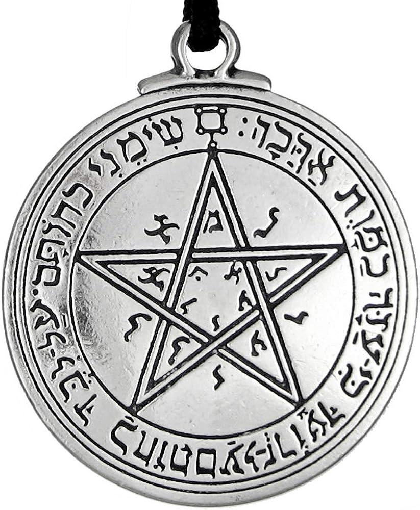 Pewter Key of Solomon Pentacle of Venus Talisman Pendant