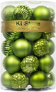 Lime Green Christmas Balls