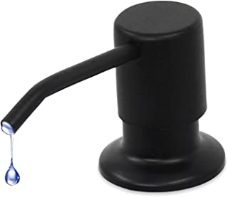 Black CACHIL Soap Dispenser for Kitchen Sink,Built in Design ABS Pump Head Refill from Top with Bottle