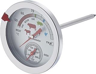 TFA Dostmann Analogowy termometr do pieczenia/piekarnika 14.1027, ze stali nierdzewnej, odporny na wysokie temperatury, z ...