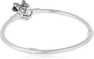 Pandora Disney Minnie silver bracelet with clear cubic zirconia, 597770CZ-18