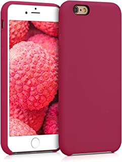 comprar comparacion kwmobile Funda Compatible con Apple iPhone 6 / 6S - Carcasa de TPU para móvil - Cover Trasero en Fucsia/Rojo
