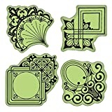 Inkadinkado Stamping Gear Cling Stamps, Decorative Ornament