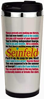 Seinfeld Quotes Logo- Stainless Steel Travel Mug, Insulated 14 oz. Coffee Tumbler.